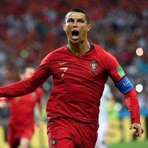 Cristiano Ronaldo firar mål