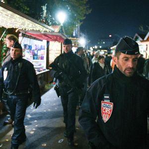 Patrullerande polis i Strasbourg. Bilden från november 2018.