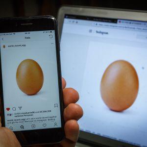 Det nya världsrekordinlägget på Instagram består av ett ägg.