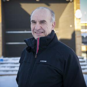 Markku Eestilä Siilinjärven torilla Helmikuussa 2021