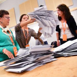 Rösträkning i svenska riksdagsvalet 2018