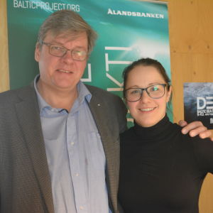 Anna Törnroos-Remes med mentorn Kenneth Kumenius.