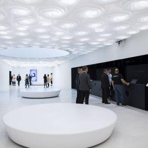 Det nya Amos Rex museet inifrån.