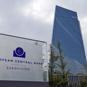 Europeiska centralbankens i Frankfurt am Main i Tyskland.