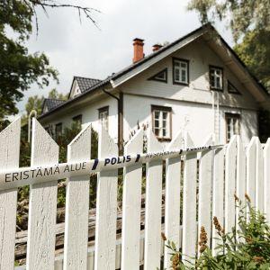 Avspärrat hus