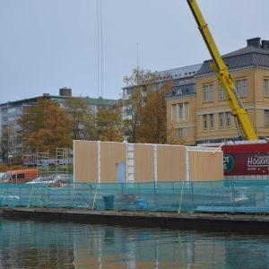 Fiskets hus byggs i Vasa