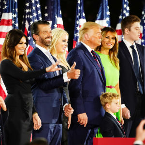 Familjen Trump under republikanernas partikonvent 2020.