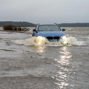 Översvämning i Ekenäs.