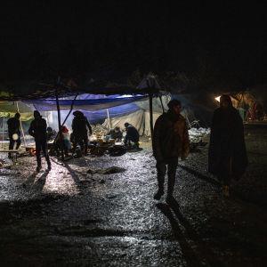 Öinen pakolaisleiri Vucikissa, Bosniassa