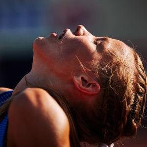 Ilona Mononen alle 20-vuotiaiden EM-kisoissa Tallinnassa.