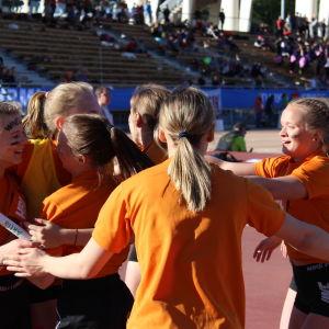 Winellska vinner 18 x 80 meter, Stafettkarnevalen 2018.