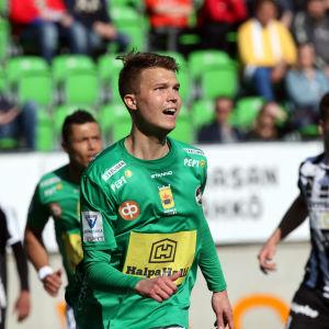 Harri Heiermann blev KPV:s första målskytt i ligan 2019.