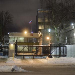 Rysslands ambassad i Stockholm fotograferad den 8 januari.