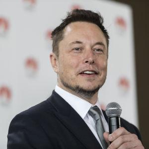 Elon Musk, miljardären som leder rymdbolaget SpaceX och elbilstiillverkaren Tesla.