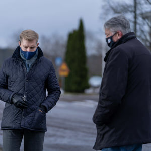 Kommundirektörerna i Mörskom och Pukkila