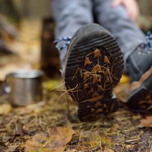 Fötter i skog