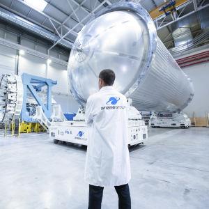 Ariane 6 -kantoraketin polttoainetankki.