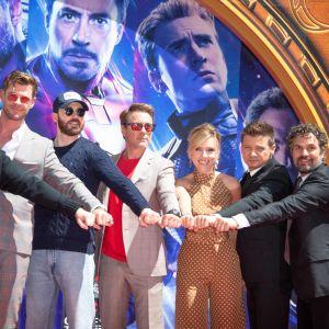 Skådesspelarna i Avengers: Endgame.