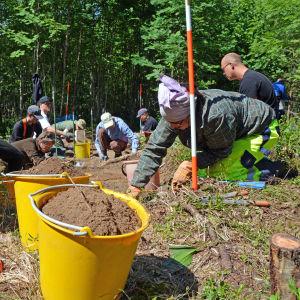 Arkeologisk utgrävning i Vävarsbacka