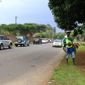 Gatuförsäljare i Zimbabwe