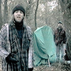 Joshua Leonard och Michael Williams i filmen Blair Witch project 1998.