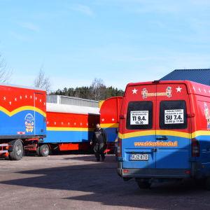 Sirkus Finlandias bilar