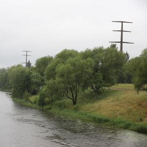 Kymijoki Kuusankoskella.