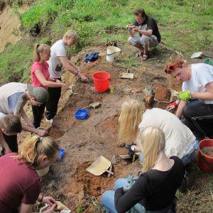 Arkeologikurs i Ekenäs gymnasium