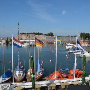 Utsikt från HSF:s terrass i Hangö.