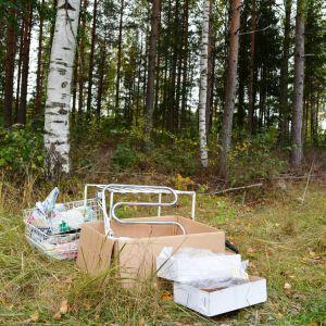 avfall vid vägkanten