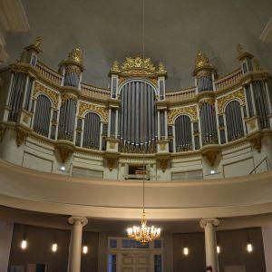 Orgelläktaren i Helsingfors domkyrka.