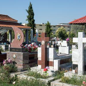 Begravningsplats i Berat i Albanien.