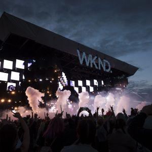 Den elektroniska musikfestivalen Weekend tog plats på Byholmen i Helsingfors.