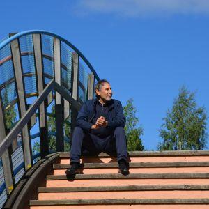 Hannu Kypärä visionerar om Craft Park Österbottens framtid.