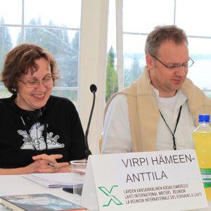 Virpi Hämeen-Anttila toimi Lahden kirjailijakokouksen puheenjohtajana neljänä kesänä.