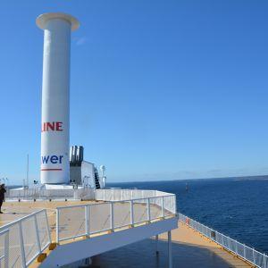 Viking Lines kryssningsfartyg M/S Grace rotorsegel.