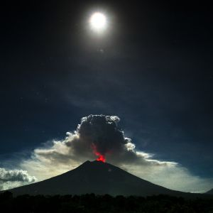 Vulkanen Gunung Agung.