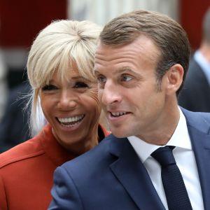 Emmanuel och Brigitte Macron