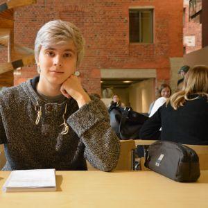 Klasslärarstuderande Alexander Nyman vid Åbo Akademi i Vasa.