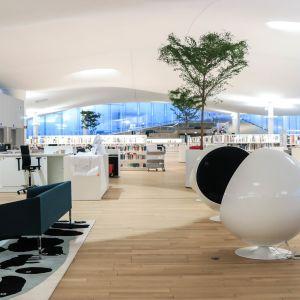 Tredje våningen i Helsingfors centrumbibliotek Ode