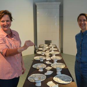 Konstnärsduon Harrie Liveart, Meri Linna och Saija Kassinen.