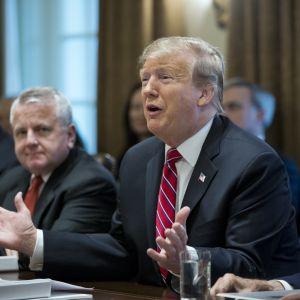 Trump sade under ett regeringssammanträde i Vita huset att han inte är nöjd, men att statsapparaten inte stängs igen