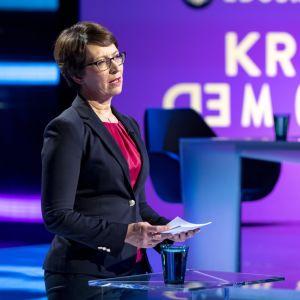 Sari Essayah puoluejohtajien vaalitentissä Yle 19.03.2019