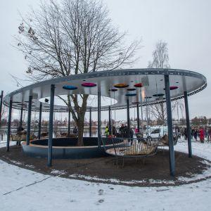 Invigning av Frizon, ett jämställdhetsprojekt, i Umeå i november 2016