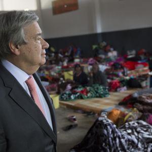 FN:s generalsekreterare Antonio Guterres på besök i Libyen