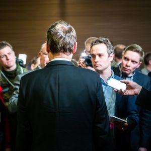 Eduskuntavaalit 2019. Pikkuparlamentin tulosilta. Väistyvä pääministeri Juha Sipilä, keskusta.