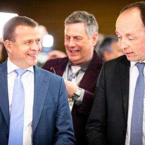 Eduskuntavaalit 2019. Pikkuparlamentin tulosilta. Petteri Orpo ja Jussi Halla-aho.