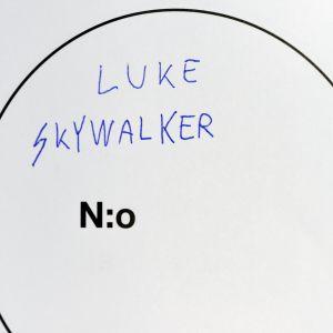 Röstsedel där det står Luke Skywalker.