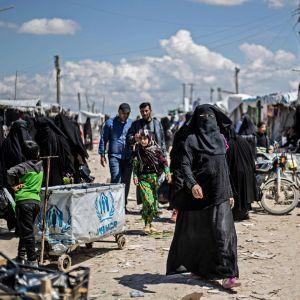Lägret al-Hol i Syrien