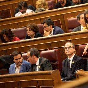 Jordi Sanchez, Jordi Turull, Josep Rull i parlamentet i Spanien 21.5.2019